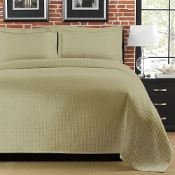 Diamante Sage Matelasse Coverlet