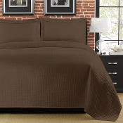 Diamante Brown Matelasse Coverlet
