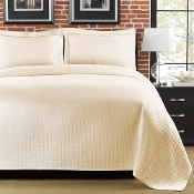 Diamante Ivory Matelasse Coverlet