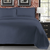 Diamante Denim Matelasse Coverlet