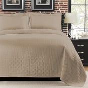 Diamante Taupe Matelasse Coverlet