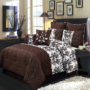 Bliss Chocolate Luxury 12-Piece Comforter Set
