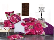 Wish,Full/Queen Bed Modern Bedding Floral Duvet Cover Set