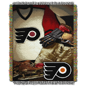 Philadelphia Flyers NHL Woven Tapestry Throw