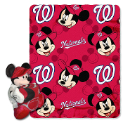 Washington Nationals MLB Disney Mickey Mouse with Throw Combo
