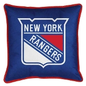 "New York Rangers NHL ""Sidelines Collection"" Toss Pillow"