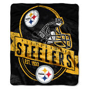 Pittsburgh Steelers NFL Royal Plush Raschel Blanket