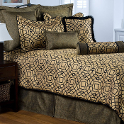 Newcastle Gold Black Bedding Collection by Victor Mill