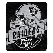 Oakland Raiders NFL Royal Plush Raschel Blanket
