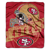 San Francisco 49ers NFL Royal Plush Raschel Blanket