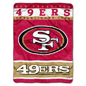 San Francisco 49ers NFL Royal Plush Raschel
