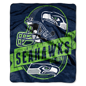 Seattle Seahawks NFL Royal Plush Raschel Blanket