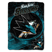 San Jose Sharks NHL Micro Raschel Blanket (46in x 60in)