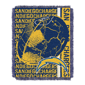 San Diego Chargers NFL Triple Woven Jacquard Throw