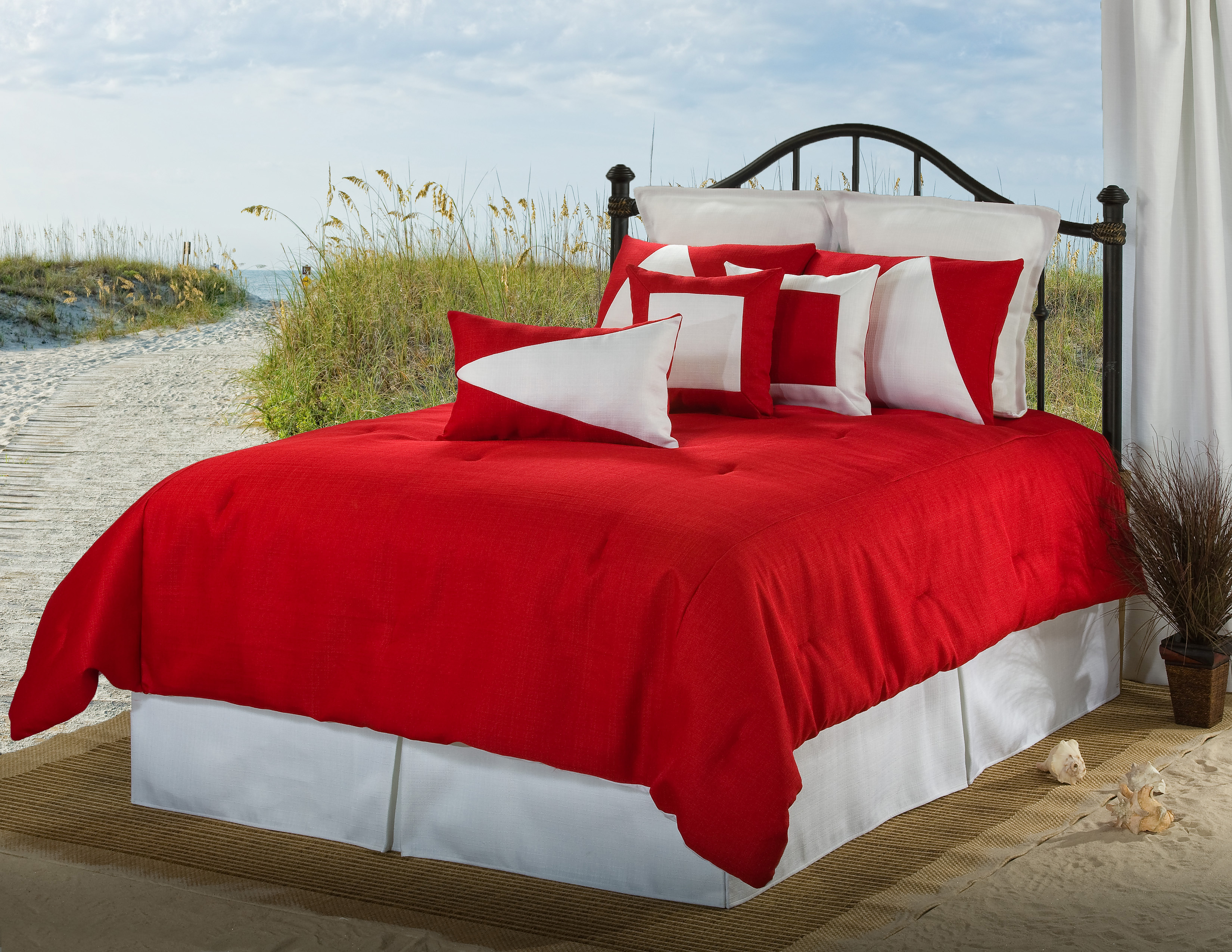 White and red bed sheets - Red White Lattitude Comforter Duvet Cover Sets American Home Fashion Duvet Covers Comforters Comforter Covers Sports Bedding