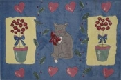 Jade Reynolds Cat and Pot Kids Fun Rugs