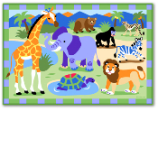 Olive Kids Wild Animal Printed Rug