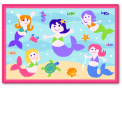 Olive Kids Mermaid Printed Rug