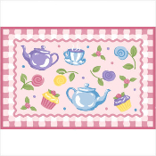 Olive Kids Tea Party Printed Rug