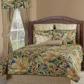 Green, Brown Bahamian Nights Comforter Bedding