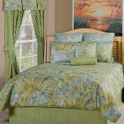 Green Brown Blue Bahamian Surf Bedding