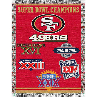 San Francisco 49ers NFL Super Bowl Commemorative Woven Tapestry