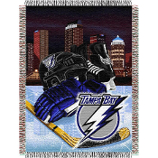 Tampa Bay Lightning NHL Woven Tapestry Throw