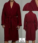 Burgundy Terry Bath Robe