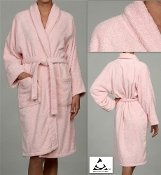 Pink Unisex Terry Bath Robe