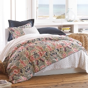 Peacock Alley Catalina Coral Linen Duvet Cover Collection