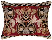 Neogothic  Needlepoint Pillow