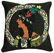 Indian Maiden Hooked Pillow
