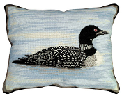 Loon Needlepoint Pillow