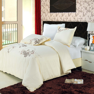 Sophia Ivory/Mauve/Taupe 3PC Duvet Cover Set