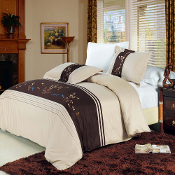 Celeste Beige, Gold, Chocolate 3 PC Duvet Cover Set