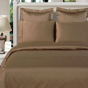 Taupe 100% Bamboo 4pc Comforter Cover Set