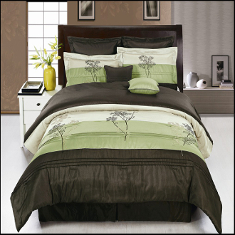 Portland Sage Coffee 12 Piece Comforter Set