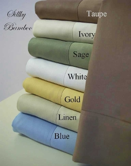 Taupe Ivory Sage White Gold Linen Bamboo Sheets Super Soft