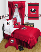 Georgia Bulldogs Comforter Sheet Set Locker Room Bedding