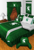 Michigan State Spartans Sideline Room Sports Bedding Collection