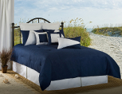 Navy White Lattitude Bedding