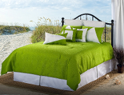 Green White Lattitude Bedding