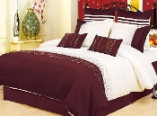 Vanessa 7-Piece Duvet Cover Set  Ivory, Brown