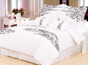 White Red Black Lily 7-Piece Duvet Cover Set