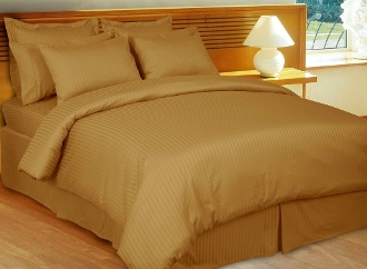 Stripe Bronze Down Alternative Bed in A Bag