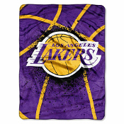 Los Angeles Lakers NBA Royal Plush Raschel Blanket