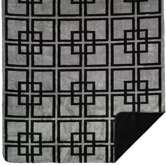 George Black Blanket Throw by Denali
