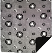 Gray Circles & Dots Blanket/Throw by Denali