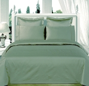 Sage-Green Olympic Queen Solid Bed in A Bag