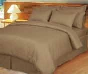 Taupe Damask Stripe, Down Alternative 4-PC Comforter Set,